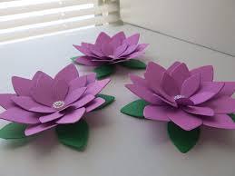 Paper Lotus Flower Amazon Com 3 Orchid Purple Paper Lotus Flowers 4 Inch