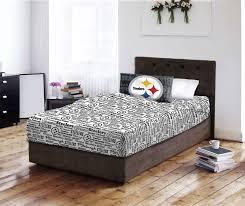 Nfl Bedroom Furniture Nfl Pittsburgh Steelers Sheet Set Football Team Anthem Bedding