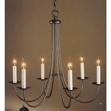 hubbardton forge 6 arm simple line chandelier hf 10 1160
