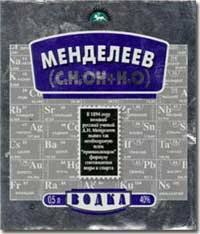 МЕНДЕЛЕЕВ Дмитрий Иванович  водка Менделеев