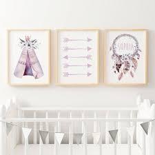 on floral wall art australia with girls tribal nursery bedroom prints print set the kids print store