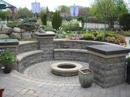 Cinder Block Outdoor Kitchen Brick Patio With Fire Pit Design Ideas Fire Pit A Water