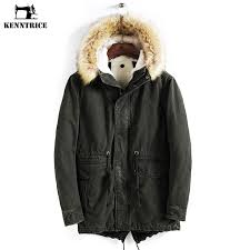 men s clothing uk mens winter thick warm fleece fur jacket parka fur lined outdoor coat
