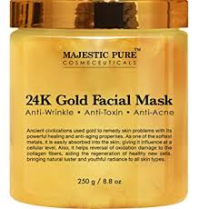 Buy Majestic Pure <b>24K Gold Facial</b> Mask, Ancient Gold Face Mask ...