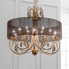 modern gold leaf swarovski crystal chandelier