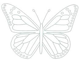 Butterfly Printable Template Outline Cut Out Butterflies Templates