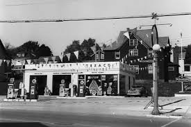 Image result for 1950's texaco gas station