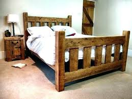 Rustic King Size Bed Frame Image Of Country Rustic King Size Bed ...