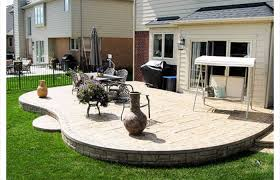 concrete patios heres a raised stamped poured patio ideas stained concrete patios diy patio