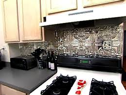 Metal Wall Tiles For Kitchen Weekend Projects How To Install A Tin Tile Backsplash Hgtv