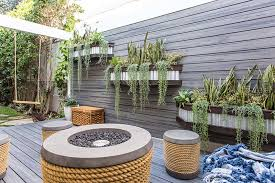 overflowing wall planters are an