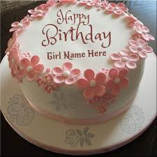 Write Your Name On Happy Birthday Cakes For Girls