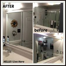 Framing A Large Mirror Bathroom Mirror White Framehow To Frame A Large Diy With Tiles
