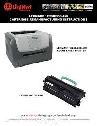 Lexmark E250 350 450 Cartridge Remanufacturing Manualzz Com