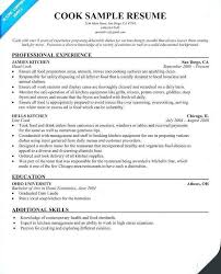 Prep Cook Resume Sample Line Cook Resume Sassorg Simple Sample Resume For A Cook