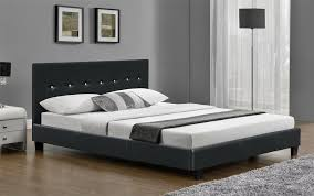 details about 6ft super king size bed frame faux leather black or brown and with mattress new