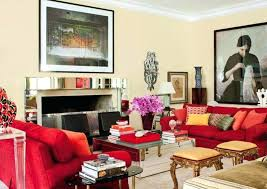 red living room decor elegant red sofa for living room decorating ideas using beige wall paint
