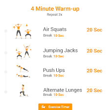 Timer 4 Min Top 5 Home Workouts Exercise Timer