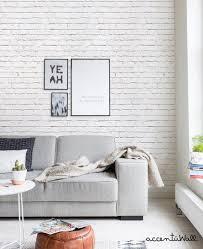 removable wallpaper white brick modern