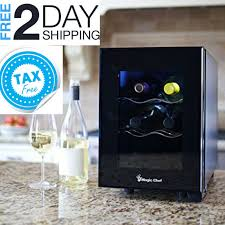 details about small wine cooler compact countertop beverage fridge mini electric kitchen