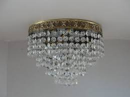 best crystal chandelier fabulous ceiling mount crystal light fixture
