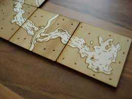 Wooden Sequence Board Game Laser Cut Board Games 100 Steps with Pictures 82