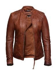 women s leather biker jacket superior quality waxed lambskin leather jpg