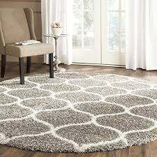 7 ft round area rugs safavieh hudson collection sgh280b grey and ivory moroccan ogee plush round area rug 7 diameter safavieh 8 ft round area rugs