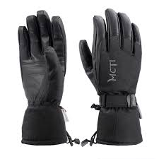 details about waterproof warm thermal ski snow snowboarding leather gloves mens gray s m l xl