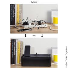 In-Box Cable Organizer & Charging Station - UT Wire