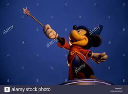 Statue of Mickey Mouse as a wizard or magician at Walt Disney Studios park  near Paris France Stock Photo - Alamy