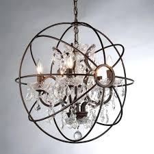 globe chandelier with crystals orb crystal chandelier rustic iron replica with regard to modern property crystal