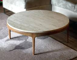 new round travertine coffee table decor on dining table remodelling