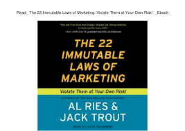 22 Immutable Laws Of Marketing Read_ The 22 Immutable Laws Of Marketing Violate Them At