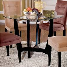 matinee 48 inch round glass dining table in dark cherry finish 48 inch round dining table