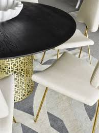 jonathan adler nixon dining table and maxime dining chairs find this pin and more on black white