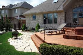deck random flagstone patio