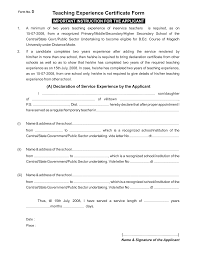 Teaching Experience Certificate Format Letter Gallery Letter Pdf