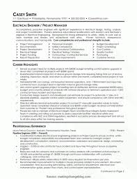 Project Manager Core Competencies Resume Examples Resume Sample