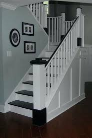 painted wood stair remodel makeover com staircases stairs how to paint wooden timber how to paint wooden stairs