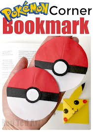 pokemon corner bookmark for pokemon go fans have a break from all that walking and have a good read save your e with your very one pokeball