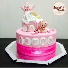 Baby Girl Birthday Cake Cake By Swati Deroliya Cakesdecor