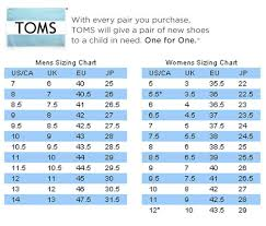 Toms Size Chart