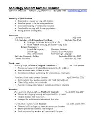 Criminology Resume Template Best of Sociology Student Resume Example Httpresumesdesign