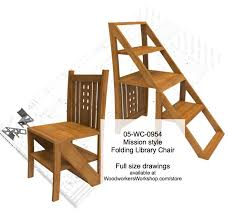 mission style folding step chair woodworking plan woodworking plan