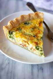 spinach and bacon quiche tastes
