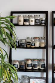 jars on a bookshelf make your kitchen