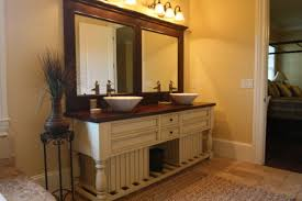 bathroom lighting and mirrors. bathroom white wooden chalk paint cabinet with double sink and mirror plus wall lamp lighting mirrors
