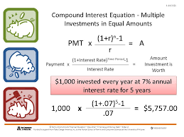 compound interest equation multiple investments in equal amounts
