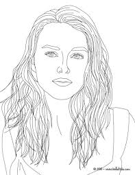 Famous People Coloring Sheets With Keira Knightley Coloring Page